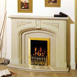 Fireplace Beige Marble 3