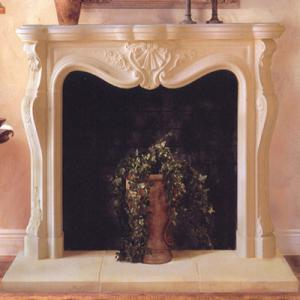 Fireplace Beige Marble 2
