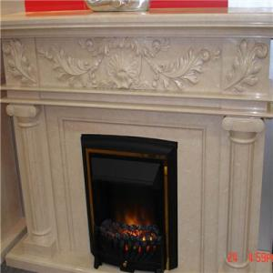 Fireplace Beige Marble 4
