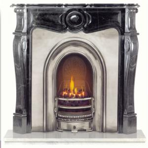 Fireplace Black Marble