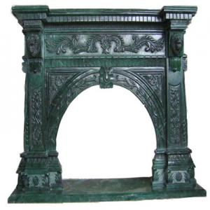 Fireplace Green Marble 2