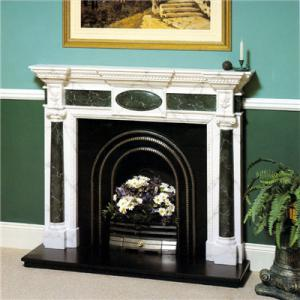 Fireplace Green Marble