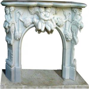 Fireplace White Marble 2