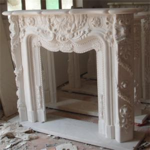 Fireplace White Marble 3