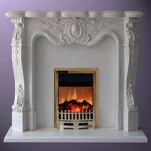 Fireplace White Marble 4