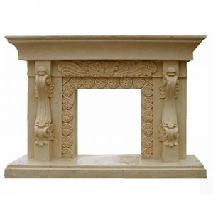 Fireplace Yellow Limestone