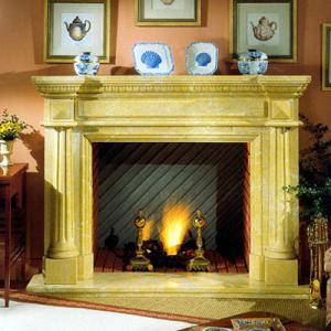 Fireplace Yellow Marble